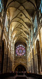 Interior da catedral do St Vitus Fotografia de Stock Royalty Free