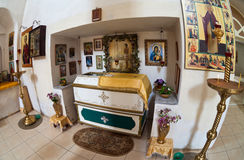 Interior da catedral em Borovichi, Rússia Imagens de Stock Royalty Free