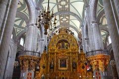 Interior da catedral metropolitana mim Fotos de Stock Royalty Free