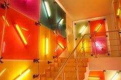 Interior da cor fluorescente Foto de Stock Royalty Free