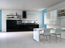 Interior da cozinha ilustração do vetor
