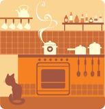 Interior da cozinha Fotografia de Stock