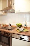 Interior da cozinha Imagens de Stock Royalty Free