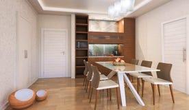 Interior da cozinha ao estilo do construtivismo Foto de Stock Royalty Free