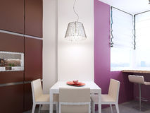 Interior da cozinha ao estilo do construtivismo Fotos de Stock Royalty Free