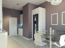interior da cozinha da Alto-tecnologia Foto de Stock