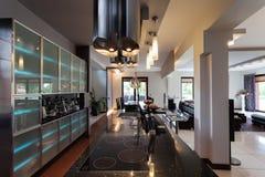 Interior da cozinha da galáxia Fotografia de Stock