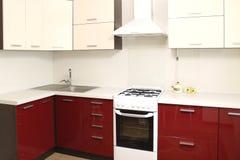 Interior da cozinha doméstica Imagens de Stock Royalty Free