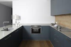 Interior da cozinha europeia moderna Foto de Stock