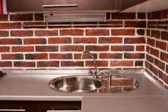 Interior da cozinha moderna Foto de Stock Royalty Free