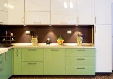 Interior da cozinha moderna Imagem de Stock