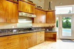 Interior da cozinha na casa luxuosa Bens imobiliários em WA Imagens de Stock