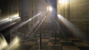 Interior da crucificação da catedral de Notre Dame de Paris vídeos de arquivo