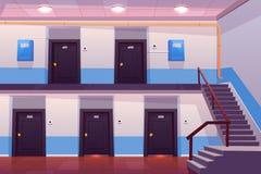 Interior da entrada da casa, corredor vazio ou corredor ilustração do vetor