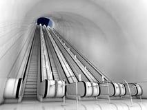Interior da escada rolante Imagens de Stock Royalty Free