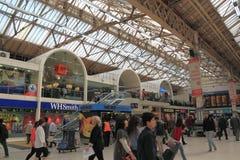 Interior da estação de comboio fotografia de stock