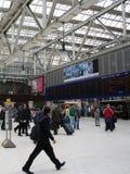 Interior da estação de comboio imagens de stock