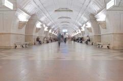 Interior da estação de metro Fotografia de Stock Royalty Free