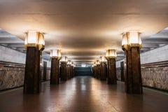Interior da estação de metro de Kyiv fotos de stock