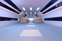 Interior da estação espacial Imagens de Stock