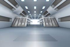 Interior da estação espacial Fotos de Stock