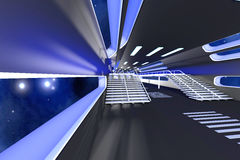 Interior da estação espacial Foto de Stock Royalty Free