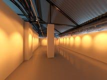 Interior da exposição da galeria Foto de Stock