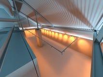 Interior da exposição da galeria da gipsita na fábrica Fotos de Stock