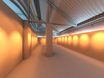 Interior da exposição na fábrica Imagens de Stock Royalty Free