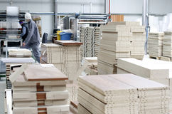 Interior da fábrica da mobília Fotografia de Stock