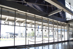 Interior da facilidade da prática de Dallas Cowboys fotografia de stock royalty free