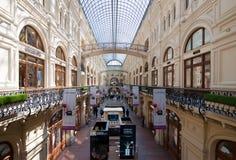 Interior da GOMA do shopping em Moscou Fotografia de Stock
