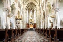 Interior da igreja Imagem de Stock