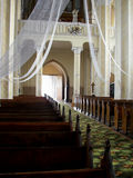 Interior da igreja Imagens de Stock
