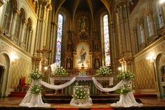 Interior da igreja Foto de Stock Royalty Free
