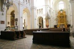 Interior da igreja Fotografia de Stock