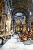 Interior da igreja Católica chamada Imagem de Stock Royalty Free
