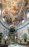 Interior da igreja Católica chamada Foto de Stock Royalty Free