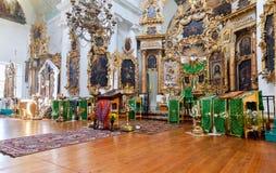 Interior da igreja da cara santamente na vila Mlevo Foto de Stock Royalty Free