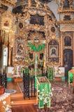 Interior da igreja da cara santamente na vila Mlevo Fotografia de Stock