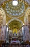 Interior da igreja de Nossa Senhora a Dinamarca Nazare Nazare Portu Foto de Stock Royalty Free