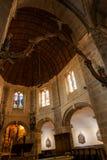 Interior da igreja de S?o Nicolau em Barfleur Normandy, France fotos de stock royalty free