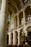 Interior da igreja de Saint Etienne Fotografia de Stock Royalty Free