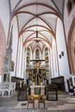 Interior da igreja de Saint Johannes e de St Martin, Schwabach, B Imagens de Stock Royalty Free