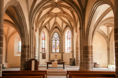 Interior da igreja de Saint-Saphorin, Lavaux, Suíça Imagem de Stock Royalty Free