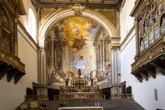 Interior da igreja de Santa Maria della Scala, Siena, Itália Foto de Stock Royalty Free