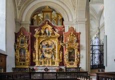 Interior da igreja de St Leodegar ou de St Leodegar de Hofkirche dentro Imagens de Stock Royalty Free