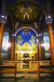 Interior da igreja de todas as nações fotografia de stock royalty free
