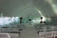 Interior da igreja do gelo Imagens de Stock