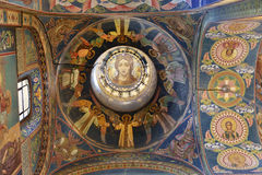 Interior da igreja do salvador no sangue derramado Imagem de Stock